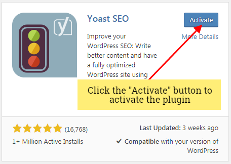 activate yoast seo plugin