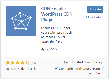 cnd enabler wordpress cdn plugin