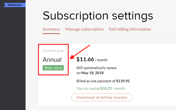 grammarly paid subscription