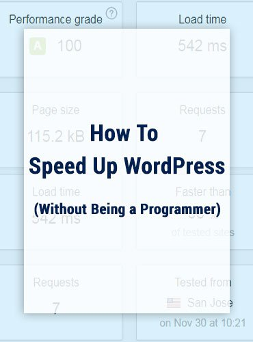 How To Speed Up WordPress (Without Being a Programmer)