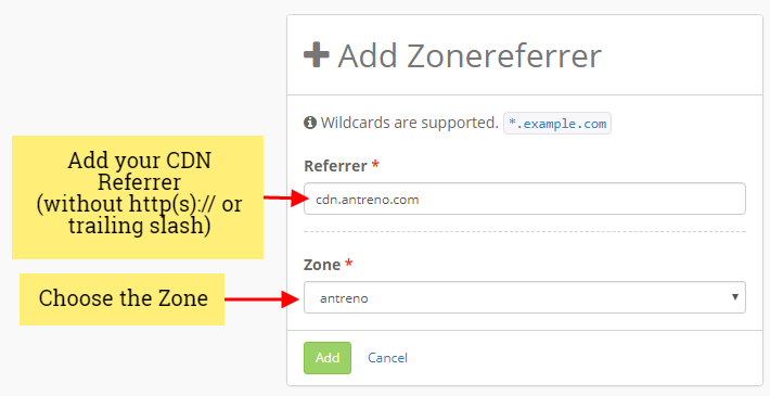 keycdn new zone referer