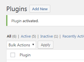 plugin activated