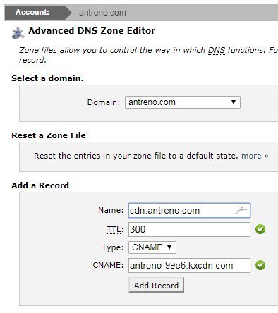siteground add cname dns record