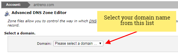 siteground edit domain dns zones