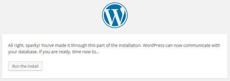 wordpress installation step 4