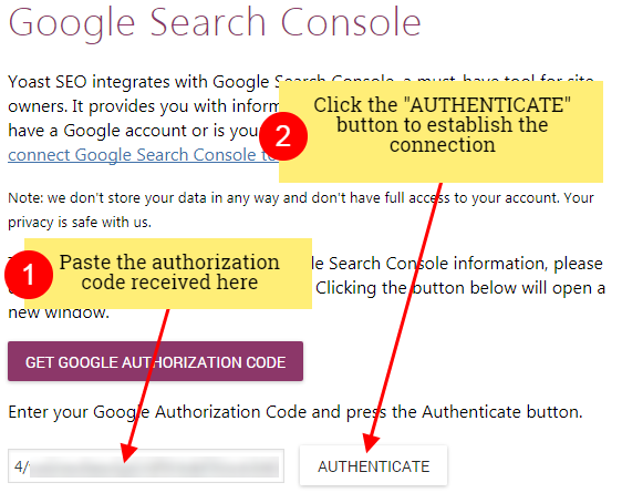 yoast console authenticate