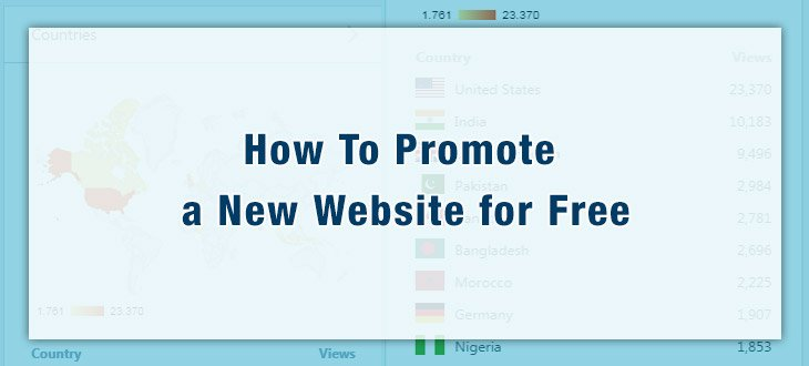 How To Promote a New Website for Free