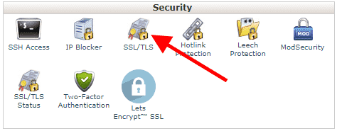 ssl tls manager cpanel