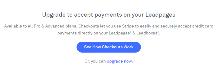 LeadPages accept payments