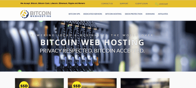 Bitcoinwebhosting accepts Bitcoin