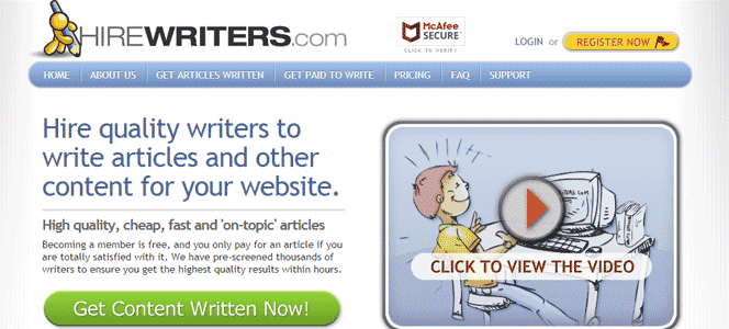 Hirewriters accepts Bitcoin