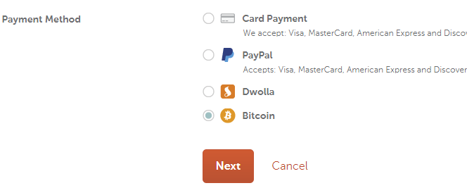 Namecheap pay with Bitcoin