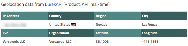 IP location US Las Vegas Nevada